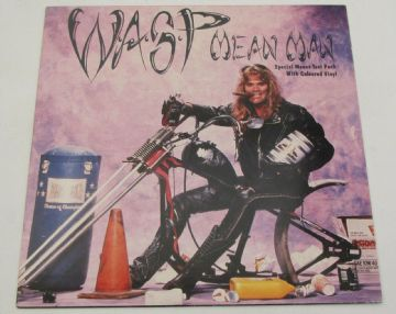 "WASP Mean Man 1989 UK 7"" P/S LILAC VINYL ROCK MINT MINUS AUDIO"